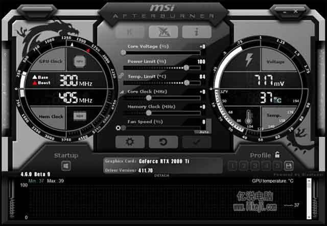 一款相当好用的游戏硬件监控软件-微星Afterburner